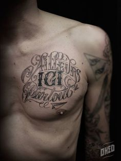 Oked_lettrage_tatouages_05 Tattoo Quotes, Poi, Finesse, Martial, Tatoos, Ideas, Tattoo, Sign Painting, Blank Canvas