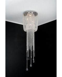 Plafon Menkar Cristal By Metais Bianca  e-lustre