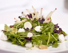 The Aronoff - Baby Arugula, Belgian Endive, Hearts of Palm, Pink Lady Apples, Indiana Goat Cheese, Toasted Almonds, Apple Vinaigrette #steakhouse #salad Belgian Endive, Pink Lady Apples, Baby Arugula, Food Gallery, Toasted Almonds, Seaweed Salad, Goat Cheese, Vinaigrette, Salad Recipes