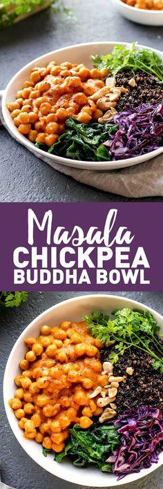 Masala Chickpea Buddha Bowl