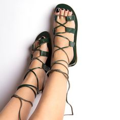Roma Sandals Women's Green, $99, now featured on Fab.