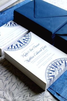 Perfect nautical invites - Compass Wedding Invitations