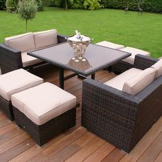 The Maze Rattan Sofa Cube Set brings a whole to meaning to the term, Versatile Garden Furniture. Order yours today with FREE Delivery - Order Online - In Store - By Phone
