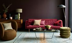 Dark Living Rooms, Paint Colors For Living Room, Dulux Heritage Colours, Online Shops, Decorate Your Room, Painted Doors, Love Seat, Interior Design, Interior Paint