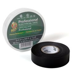 Amazon.com: Duck Brand 299019 Professional Grade Electrical Tape, 3/4-Inch by 66 Feet, Single Roll, Black: Home Improvement