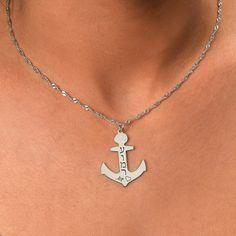 Personalize Anchor Necklace. #Jewelry #customjewelry #Jewelryideas #handmadejewelry #bracelet #necklace #jewelryart #jewelryfashion #jewelrylovers #elegantjewelry #jewelryoftheday #jewelrystyle #jewelryinspiration #jewelrylover #pendant #pendants #pendantnecklce #pendantbracelet #barnecklaces #gift #gifts #womensfashion