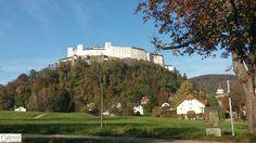 Festung Hohensalzburg im Herbst, Blick von Nonntal.