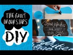 The Fault In Our Stars: DIY Room Decor! i want to try the chalk board! Crafts For Teens, Diy And Crafts, Fun Crafts, My New Room, My Room, Star Diy, Luxury Duvet Covers, The Fault In Our Stars, Room Themes