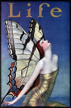 Butterfly in Bloom. W T Benda cover, Life magazine 1923