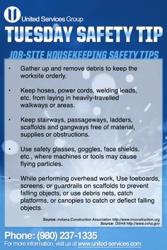 This week's Tuesday Safety Tip is about Job-site Housekeeping. Safety Talk Topics, Safety Moment Topics, Safety Slogans, Safety Posters, Office Safety, Workplace Safety, Past Exam Papers, Fire Safety Tips, Safety Meeting