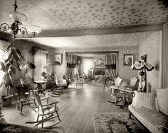 "Parkside, Pennsylvania, circa 1906. ""Park Hotel parlors."" 8x10 inch dry plate glass negative, Detroit Publishing Company."