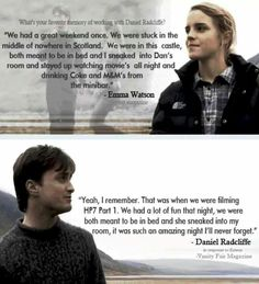 I absolutely ship Ron and Hermione, BUT I also sort of ship Dan and Emma in real life.  They're adorable.