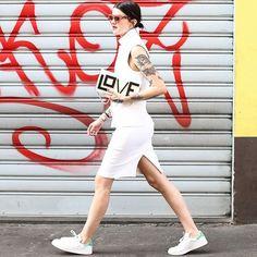 Look todo branco com bolsa Les Petits Jouoers