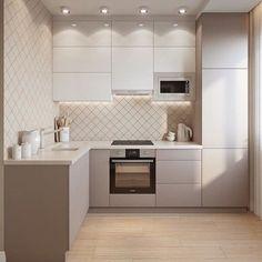 Simple Kitchen Design, Kitchen Room Design, Kitchen Cabinet Design, Home Decor Kitchen, Interior Design Kitchen, Kitchen Ideas, Kitchen Furniture, Color Interior, Furniture Design