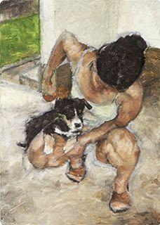 Jackie Gomez Fine Artist: 'Felix & I' Alla Prima ACEO