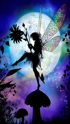 Ideas For Beautiful Art Fantasy Magic Elves Fantasy Kunst, Fantasy Art, Magical Creatures, Fantasy Creatures, Fairy Land, Fairy Tales, Fairy Silhouette, Fairy Pictures, Love Fairy