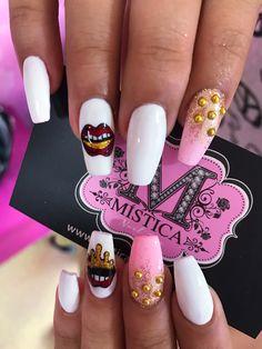 Boca roja Spa, Nails, Beauty, Nail Art, Work Nails, Unicorn Nails, Nail Decorations, Nail Manicure, Gifts
