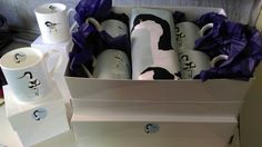 Avocet gift set by Betty bay design, beautiful Bone China ware.