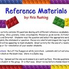 Students have a difficult time understanding the different terminology with regard to reference materials.  This activity provides practice with qu...