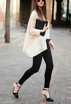 Stylish,white & black