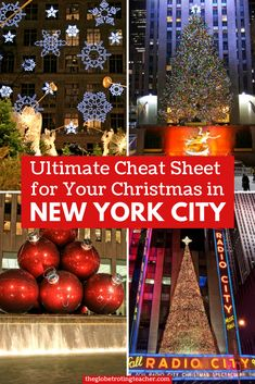 Ultimate Cheat Sheet to plan an unforgettable Christmas in New York City, written by a Local!! Everything you need to know before visiting NYC during the holidays. Use these helpful tips if you're thinking of spending the holidays in NYC! #Christmas #NYC #travel