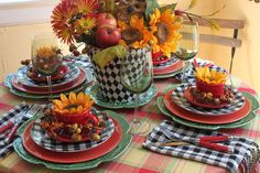 Fall Mix Tablescape, so creative! Fall Table Centerpieces, Table Decorations, Black And White Dishes, Table Place Settings, Fall Floral Arrangements, Autumn Decorating, Fall Crafts, Tablescapes, Tea Tables