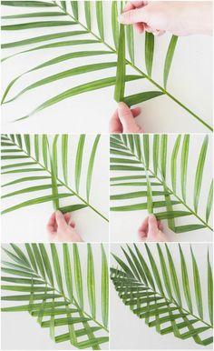 DIY - Palm Leaf Wall Art