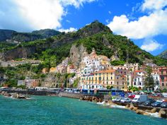 The Amalfi Coast is gorgeous. If you get the chance to visit, you must go. We Fall In Love, Positano, Amalfi Coast, Holiday Destinations, Italy Travel, Amazing Places, Bella, Wisconsin, My Dream