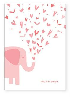 Para corazones dulces - Free printable card love is in the air with elephant for weddings or valentine's day Free Printable Cards, Valentine's Day Printables, Little Valentine, Valentines Day Party, Pink Elephant, Illustration Inspiration, Project Life, Baby Shower, Toddler Girls