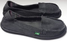 NEW Black Sanuk Womens Canvas Slip On Shoes Size 10 #Sanuk #LoafersMoccasins #Casual