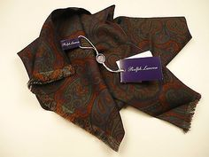 Ralph Lauren Purple Label Paisley Scarf. Made in Italy.