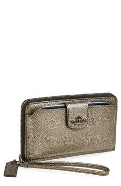Metallic smart phone wallet from Coach. Love!