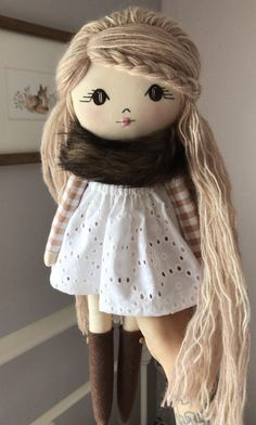 Raggy Dolls, Sock Dolls, Felt Dolls, Doll Sewing Patterns, Sewing Dolls, Doll Clothes Patterns, Fabric Doll Pattern, Doll Crafts, Diy Doll