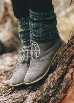 "I love the clarks, and the legwarmers help keep it from seeming too ""masculine"" for me."