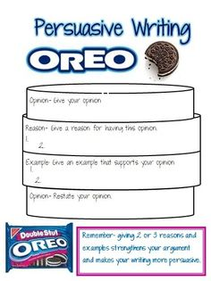 This is a great visual to teach opinion writing. I think I am going to use it with the prompt: What is the best way to eat an oreo cookie. by sabrina