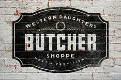 THE MADE SHOP - painted type Butcher Store, Local Butcher, Window Signage, Wall Writing, Signwriting, Paint Types, Old Factory, Logo Sign, Typography