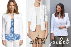 How to wear a white jacket