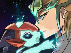 Kite with baby galaxy eyes photon dragon +YUGIOH ZEXAL +Kite Tenjo
