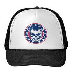 Rockabilly Greaser Skull and Aces Trucker Hat