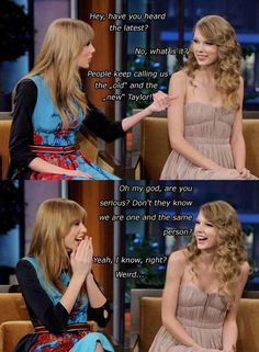 Haha! but true...#TaylorSwift But I still miss the other Taylor! Curly hair works for her!