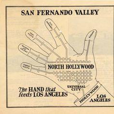 San Fernando Valley: The Hand that Feeds LA, circa :: San Fernando Valley History. Zelzah is now Northridge, Owensmouth is now Canoga Park. California History, Vintage California, California Love, Los Angeles California, Hollywood California, Southern California, Los Angeles Hollywood, North Hollywood, Los Angeles Map