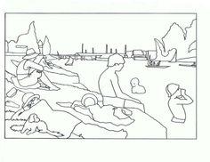 Bañistas en Asnieres. Seurat