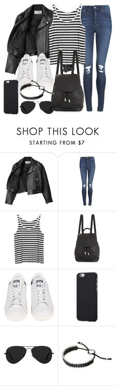 """Style #11361"" by vany-alvarado ❤ liked on Polyvore featuring Acne Studios, Cheap Monday, Monki, rag & bone, adidas, Ray-Ban and Links of London"