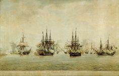 ''Combat d'Algésiras (1801), deuxième position'', Ange-Joseph-Antoine Roux, 1765-1835, Musée national de la Marine'