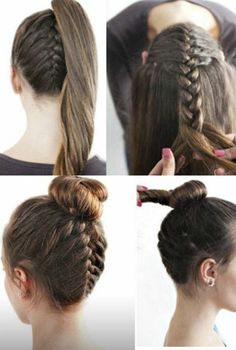 Coiffure facile a faire soi même pour cheveux mi long Hairstyle easy to do yourself for long hair Fast Hairstyles, Box Braids Hairstyles, Trending Hairstyles, Summer Hairstyles, Simple Hairstyles, Christmas Hairstyles, Teenage Hairstyles, Beautiful Hairstyles, Medium Hair Styles