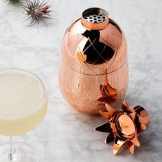 Copper Pineapple Cocktail Shaker - Waiting On Martha - 2