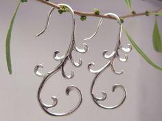 Cascade earrings  ornate silver 925 by sanfranblissco on Etsy, $38.00