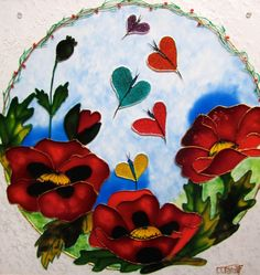 Cardinals mandala plexiglass stainglass painting by for Fenetre a cardinal