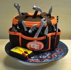 Electrician Tool Bag-anniverssary cake-tools-The cake zone-Tampa-Sarasota-FL