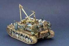 Bergepanzer IV by Angelo Inigo Panzer Iv, Model Tanks, Military Diorama, Model Kits, Armored Vehicles, Plastic Models, Scale Models, Military Vehicles, Type 3